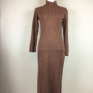 Peruvian Connection Turtleneck Maxi Sweater Dress